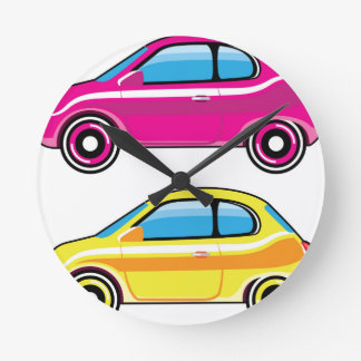 Tiny Tiny Small Car mini vehicle Vector Round Clock