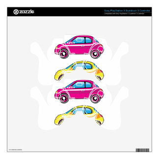 Tiny Tiny Small Car mini vehicle Vector Skins For PS3 Controllers