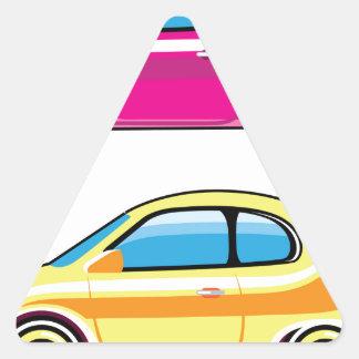 Tiny Tiny Small Car mini vehicle Vector Triangle Sticker