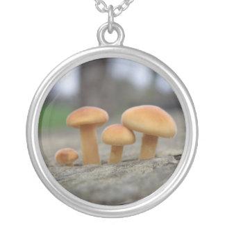 Tiny Toadstools Macro Necklace