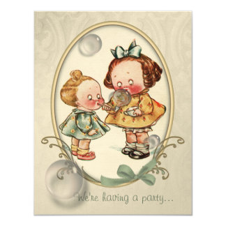 Tiny Toddlers Vintage Illustration Invites