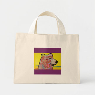 Tiny Tote Bag with Cuddly Bear Design