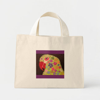Tiny Tote Bag with Cute Parrot Design
