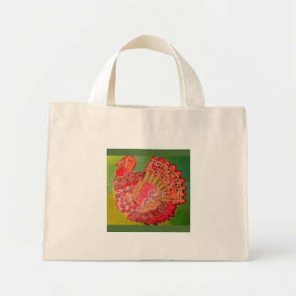 Tiny Tote Bag with Cute Turkey Design