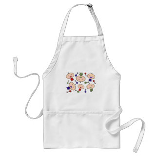 Tiny Tots Baby Pattern Adult Apron