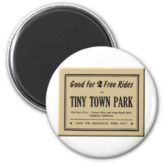 Tiny Town 2 Inch Round Magnet