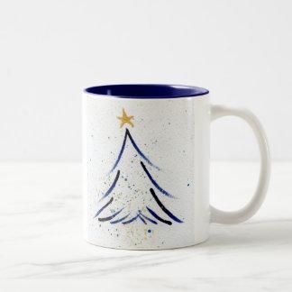 Tiny tree, gold star, mug