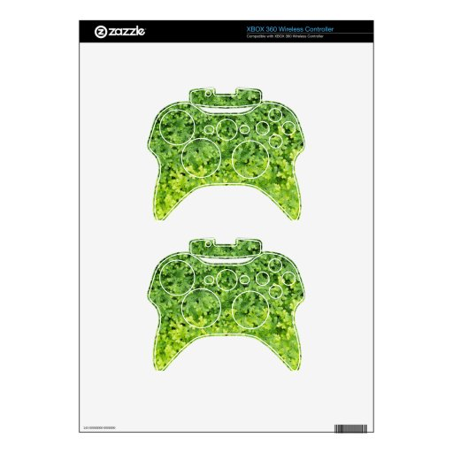 Tiny tropical fern xbox 360 controller decal