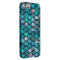 Tiny Turquoise Bling Pattern Barely There iPhone 6 Case