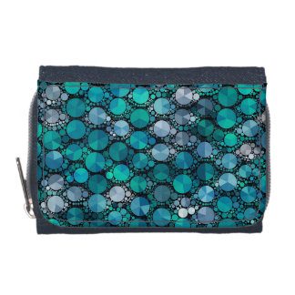 Tiny Turquoise Bling Pattern Wallets