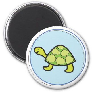 Tiny Turtle 2 Inch Round Magnet