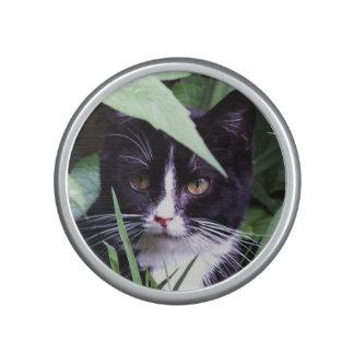 Tiny Tuxedo Cat Bumpster Bluetooth Speaker