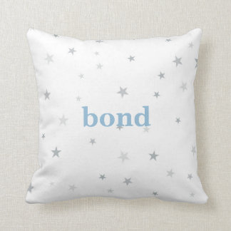 Tiny Twinkle Star Gray Baby Nursery Pillow