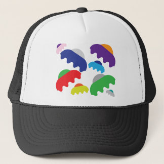 Tiny UFOs Trucker Hat