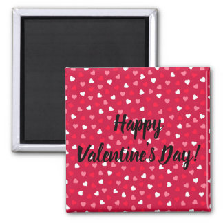 Tiny Valentine Hearts in Red White Pink Magnet