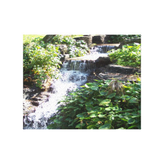 Tiny waterfall wrapped canvas stretched canvas prints