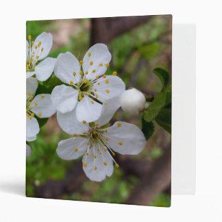 tiny white flowers binder