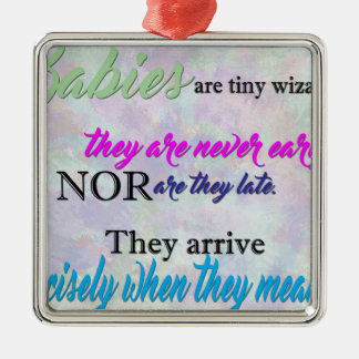 Tiny Wizards Metal Ornament