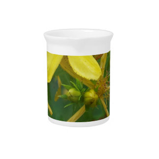 Tiny Yellow Flowers Drink Pitcher