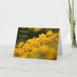 Tiny Yellow Flowers Easter Greeting Cards