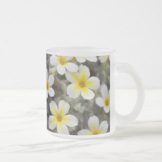 Tiny Yellow Flowers Frosted Glass Coffee Mug
