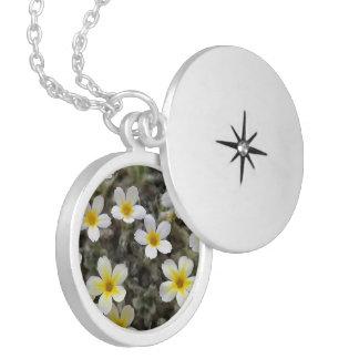 Tiny Yellow Flowers Pendant