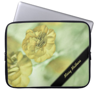 Tiny Yellow Flowers Personal Laptop Sleeve