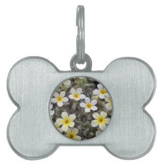 Tiny Yellow Flowers Pet Name Tag