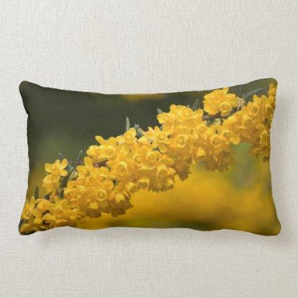 Tiny Yellow Flowers Throw Pillow