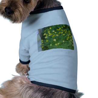 Tiny yellow flowers with greenery doggie t shirt