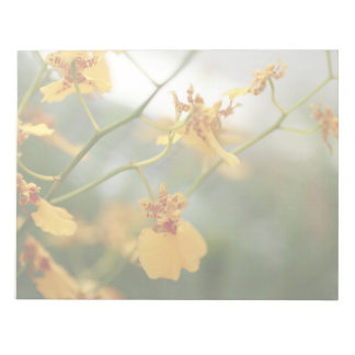 Tiny Yellow Orchids Notepad
