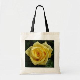 Tiny Yellow Rose Tote Bag