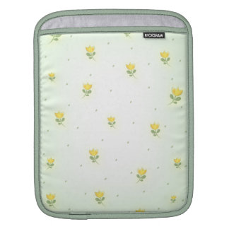 tiny yellow tulips pattern sleeve for iPads