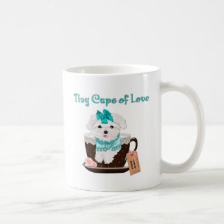 TinyCupsOfLove Coffee Mug_Toy Maltese In a Cup Classic White Coffee Mug