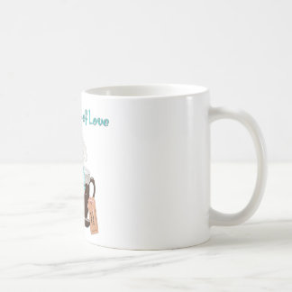TinyCupsOfLove_Teacup Maltese In a Cup Classic White Coffee Mug