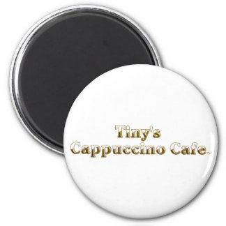 Tiny's Cappuccino Cafe Logo 2 Inch Round Magnet
