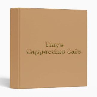 Tiny's Cappuccino Cafe Logo 3 Ring Binder