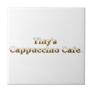 Tiny's Cappuccino Cafe Logo Ceramic Tile