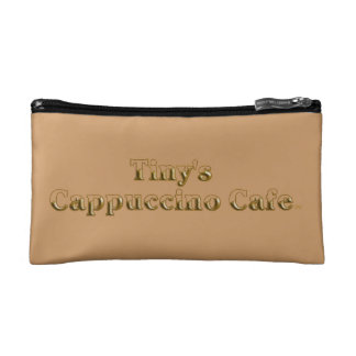 Tiny's Cappuccino Cafe Logo Cosmetic Bag