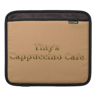 Tiny's Cappuccino Cafe Logo iPad Sleeves