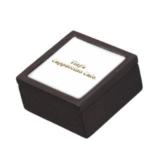 Tiny's Cappuccino Cafe Logo Keepsake Box