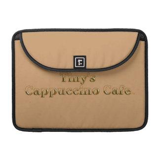 Tiny's Cappuccino Cafe Logo MacBook Pro Sleeve