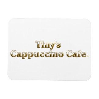 Tiny's Cappuccino Cafe Logo Rectangular Photo Magnet