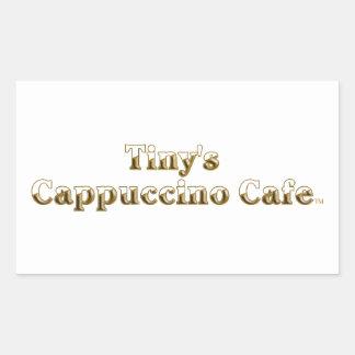 Tiny's Cappuccino Cafe Logo Rectangular Sticker