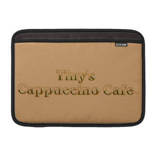 Tiny's Cappuccino Cafe Logo Sleeve For MacBook Air