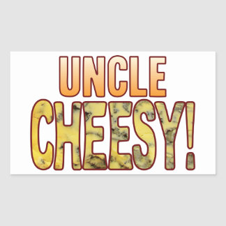 Tío Blue Cheesy Pegatina Rectangular