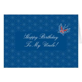 Tío Card del feliz cumpleaños del modelo del batik Tarjeta De Felicitación
