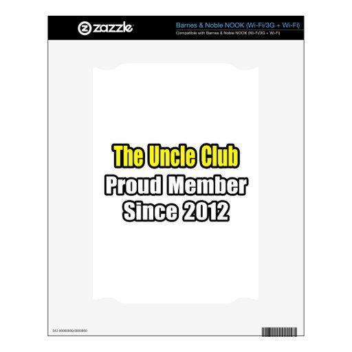 Tío Club. Miembro orgulloso desde 2012 Skins Para NOOK
