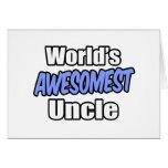 Tío de Awesomest del mundo Felicitacion