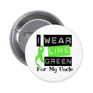 Tío de la cinta de la verde lima del linfoma pin redondo de 2 pulgadas